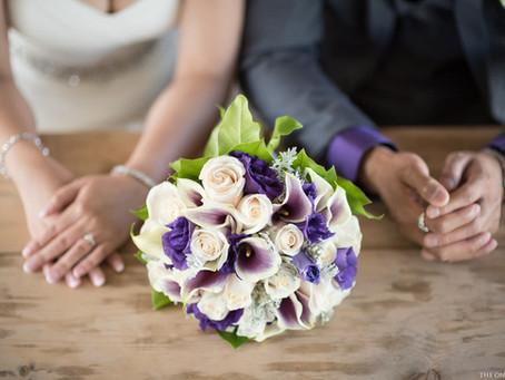 Bride & Groom + Bouquet