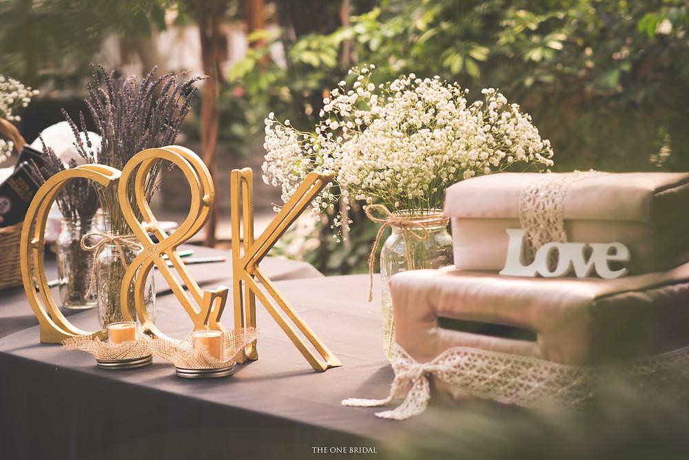 Lavender Bouquet, Baby's Breath Centerpiece, Wedding Decoration-THE ONE BRIDAL