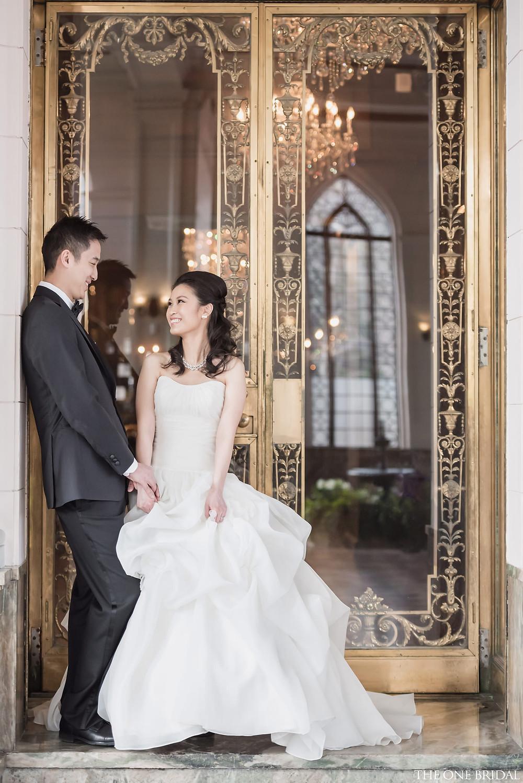 the one bridal ball gown wedding dress pre-wedding photogrpahy casa loma toronto