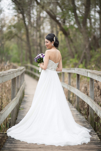Bride at Toogood Pond   THE ONE BRIDAL