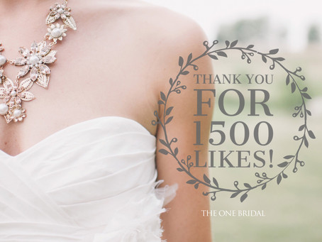 Thank you for 1500 Facebook Likes