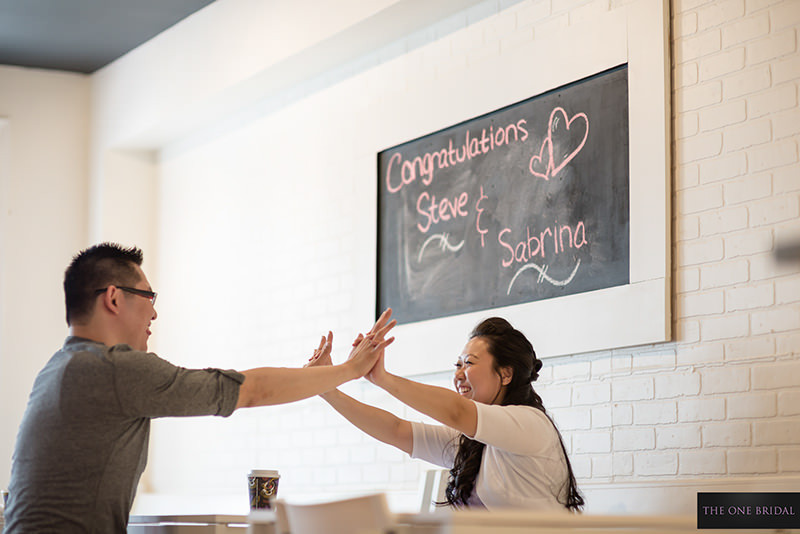 Cake Bakery Engagement Photography by THE ONE BRIDAL