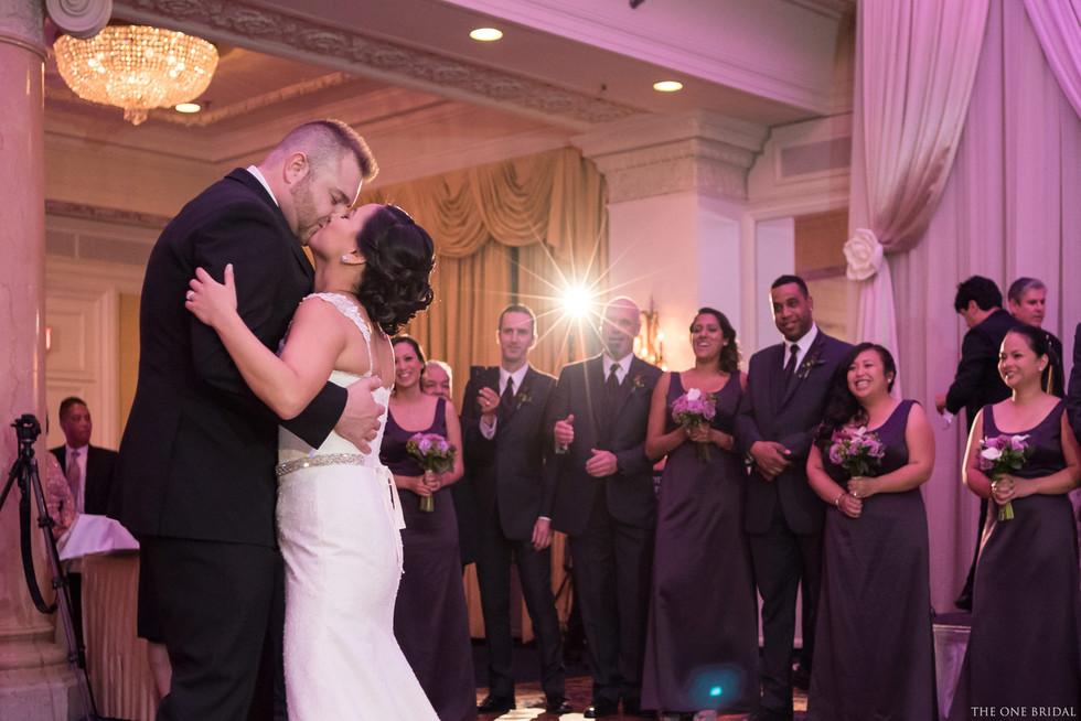 Bride and Groom wedding photo at King Edward Hotel