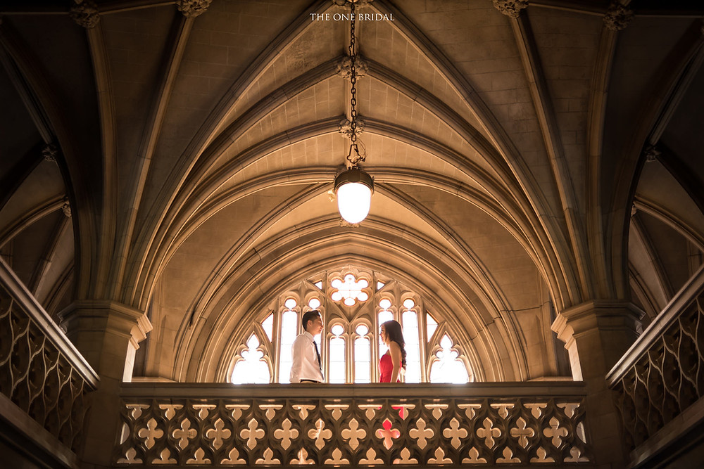 Knox College Toronto Engagement Photo | THE ONE BRIDAL