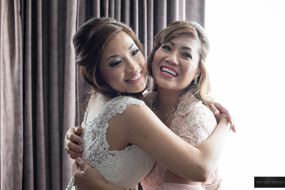 Bride and Mother in Wedding