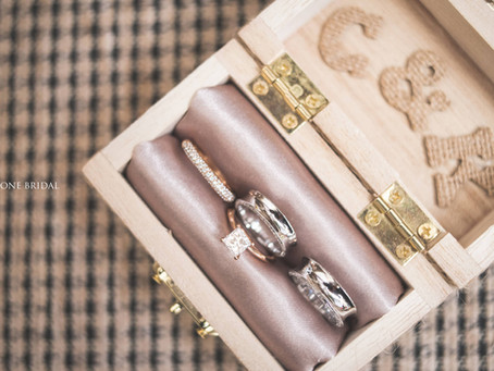 Diamond Engagement Ring & Wedding Rings
