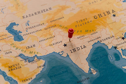 a pin on New Delhi, India in the world m