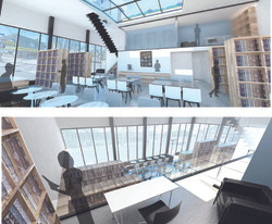 Cafe Bookstore & Author's Studio Renders