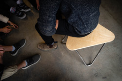 Stool in Use