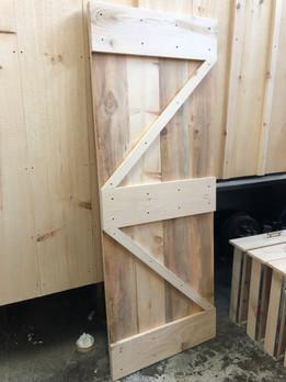 Completed Bathroom Barn Door