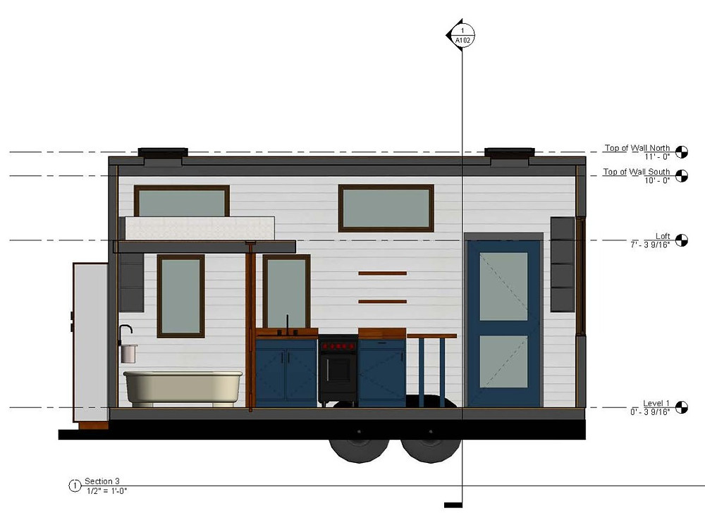 revit tiny house elevation