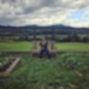 Garden in the Blue Ridge Mountains