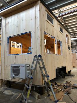End of Workshop Exterior Progress - Awaiting Backordered Windows + Door for Installation