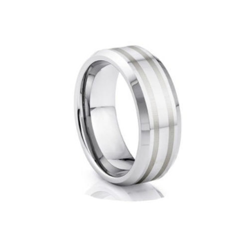 TUNGSTEN Trivia 8mm | Inlay Bevel Edge