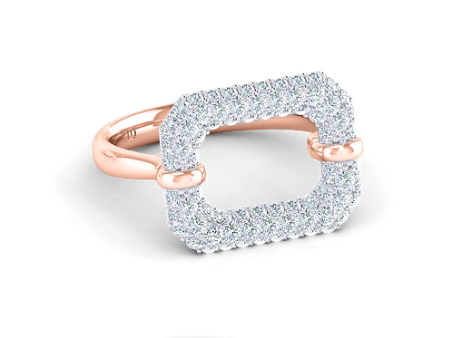 MIA Pillow Pave Fashion Ring