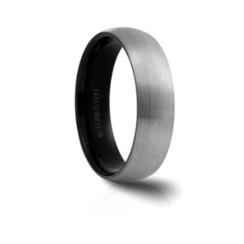 TUNGSTEN Luxe 6mm | Brushed Outer Black Inner