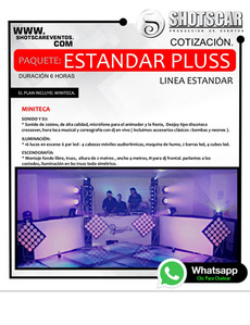 SHOTSCAR LINEA DE MINITECAS Y PRODUCCION CON ARTISTAS