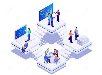 isometric-bussines-co-working-space-conc