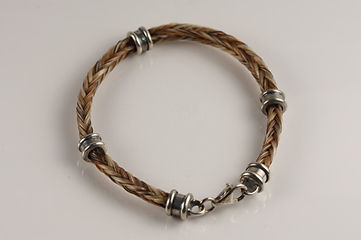 Twisted Tails Horsehair Jewelry Bracelet B3 Bell