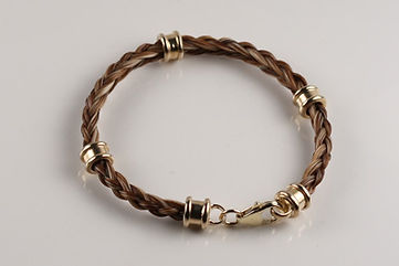 Twisted Tails Horsehair Jewelry Bracelet B13 Bell