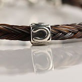 Twisted Tails Horsehair Jewelry Beads Square Horseshoe