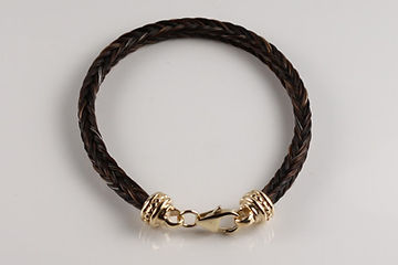 Twisted Tails Horsehair Jewelry Bracelet B12 Dots