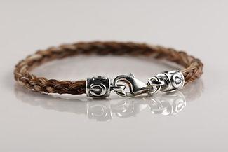 Twisted Tails Horsehair Jewelry Bracelet B2 Round Horseshoe