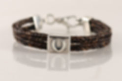Twisted Tails Horsehair Bracelet B7