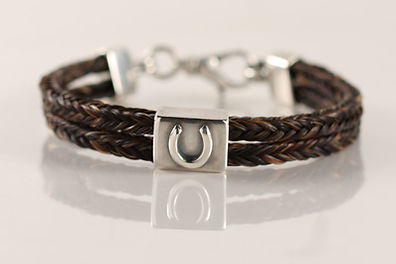 Twisted Tails Horsehair Jewelry Bracelet B7 Horseshoe