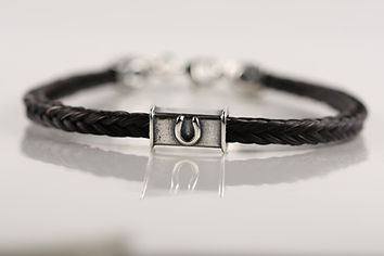 Twisted Tails Horsehair Jewelry Bracelet B6 Horseshoe