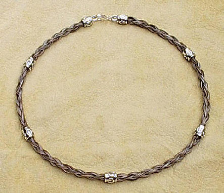 Twisted Tails Horsehair Jewelry Necklace N13