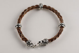 Twisted Tails Horsehair Jewelry Bracelet B3 Twist