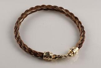 Twisted Tails Horsehair Jewelry Bracelet B12 Round Horseshoe
