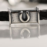 Twisted Tails Horsehair Jewelry Bead Square Horseshoe