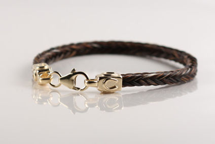 Twisted Tails Horsehair Bracelet B12