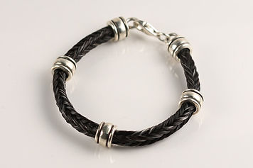 Twisted Tails Horsehair Jewelry Bracelet B3 Barrel