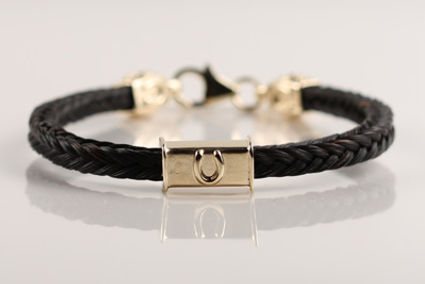 Twisted Tails Horsehair Bracelet B16