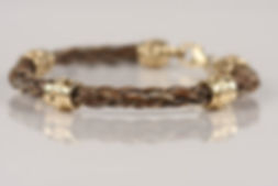 Twisted Tails Horsehair Bracelet B13