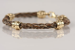 Twisted Tails Horsehair Jewelry Half Round Braid