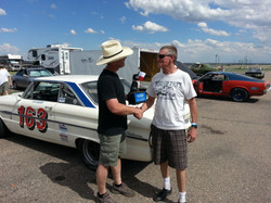 The Driver accepts the Rat Trophy June 1