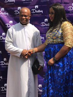 Local Priest Ven. Dr Christopher Onyemerakam, who supervised the project on the second home.