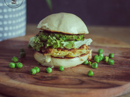 Bain Bao - Burger - Galette de petits pois