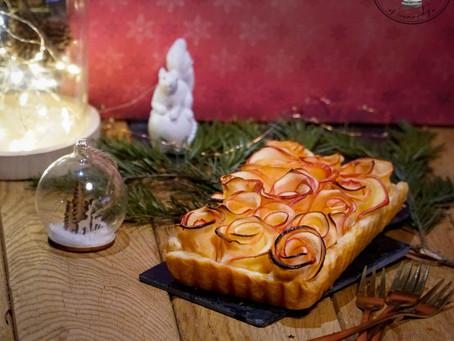 Tarte salée Pommes - Mimolette d'Isigny