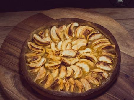 Tarte aux pommes à la pâte levée