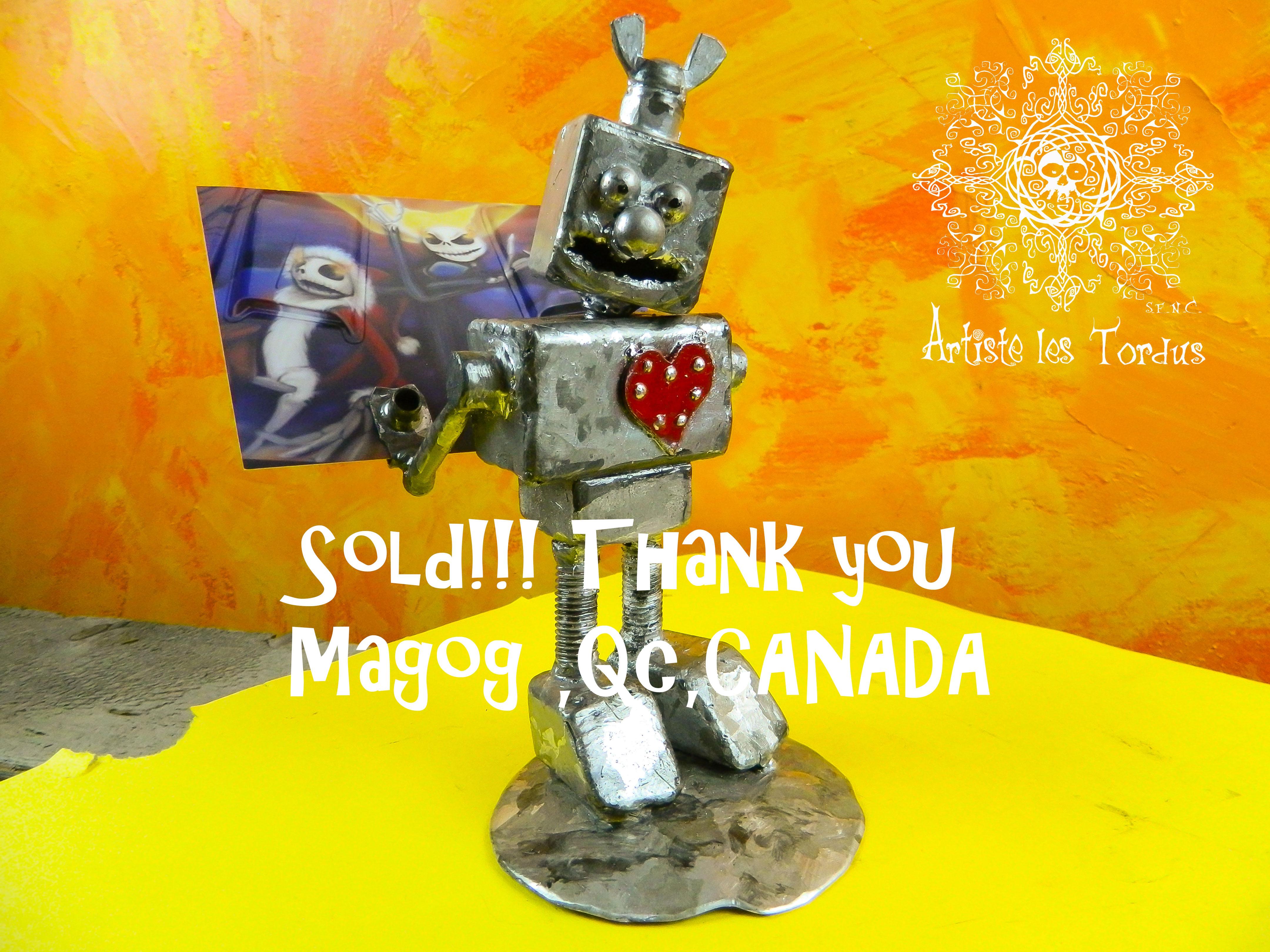 Robot amour, vendu, Canada