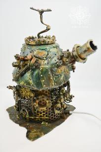 Lampe laboratoire steampunk