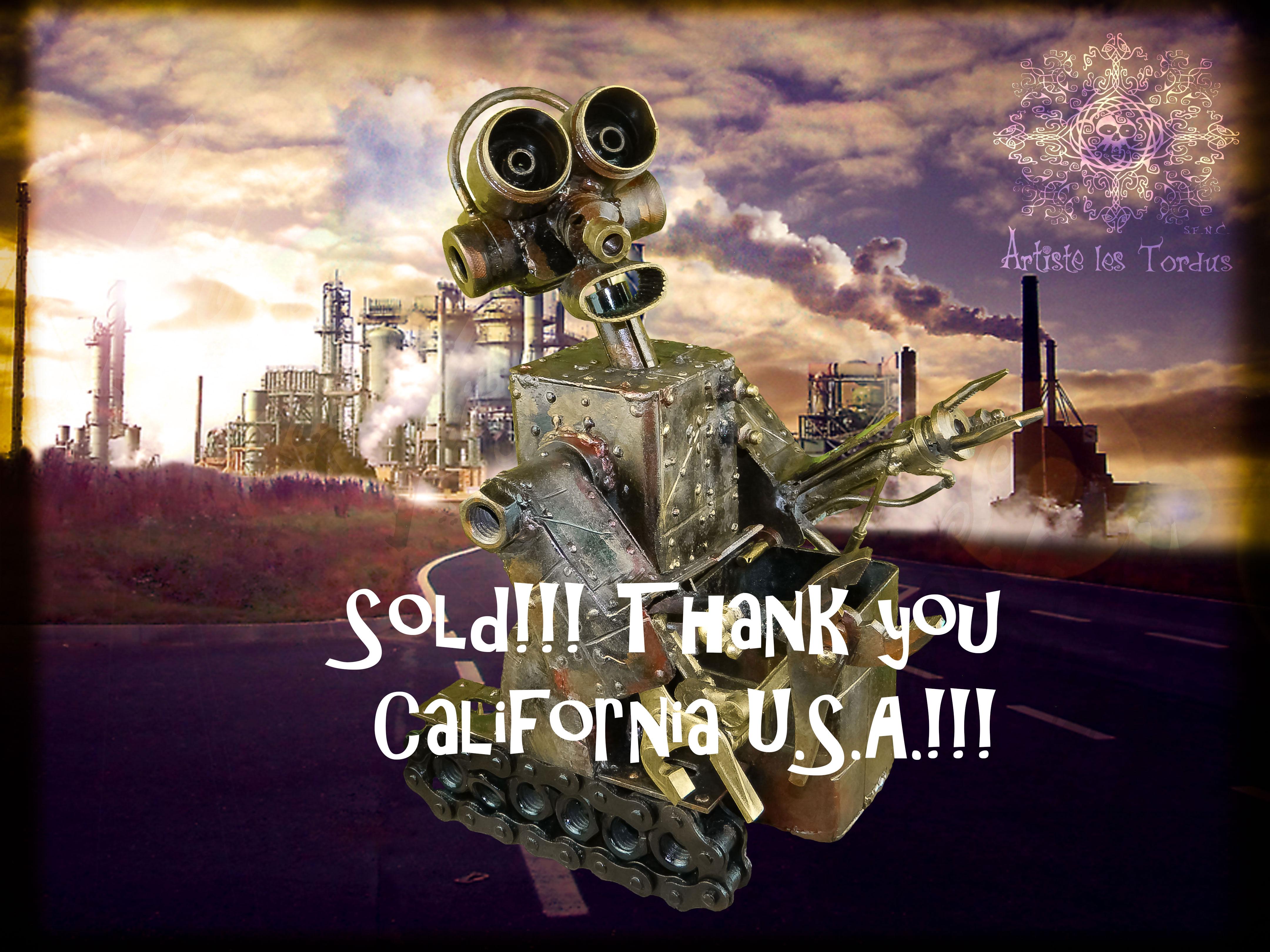 Robot, vendu, Californie