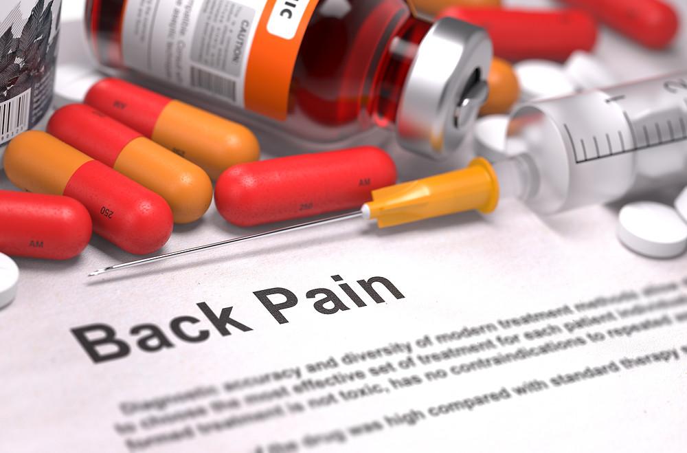 Medikamente und Injektionen, die bei Rückenschmerzen und Bandscheibenvorfall angewendet werden