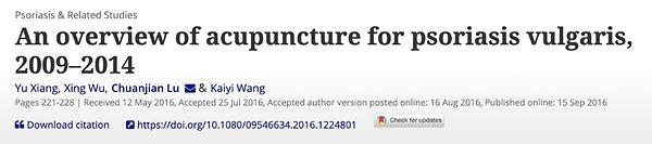 2. Schuppenflechte, Akupunktur auf Psori