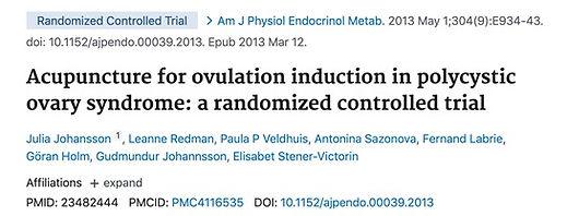 Studie. Akupunktur zur Ovulationsinduzie